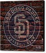 Padres Baseball Graffiti On Brick  Canvas Print by Movie Poster Prints