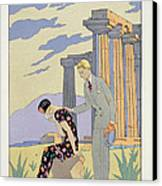Paestum Canvas Print by Georges Barbier