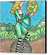 Page Of Coins - Good News Canvas Print by Joy Saethre