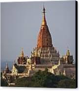 Pagoda In Bagan, Upper Burma Myanmar Canvas Print