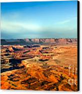 Painted Canyonland Canvas Print by Robert Bales