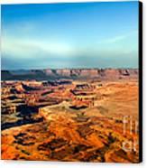 Painted Canyonland Canvas Print by Robert Bales