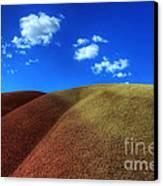 Painted Hills Blue Sky 1 Canvas Print