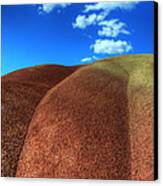 Painted Hills Blue Sky 2 Canvas Print by Bob Christopher