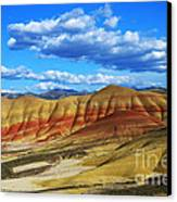 Painted Hills Blue Sky 3 Canvas Print