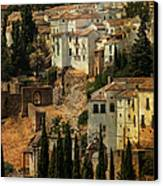 Painted Ronda. Spain Canvas Print by Jenny Rainbow