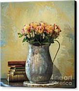 Painted Roses Canvas Print by Terry Rowe