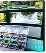 Painting In Giverny Canvas Print