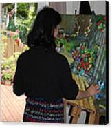 Painting My Backyard 2 Canvas Print by Becky Kim