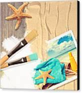 Painting Summer Postcard Canvas Print by Amanda Elwell