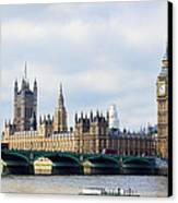 Palace Of Westminster Canvas Print by Trevor Wintle