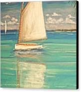 Palm Bay Canvas Print by The Beach  Dreamer