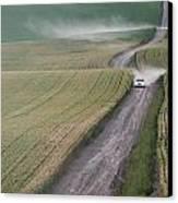 Palouse Dust Trail Canvas Print by Latah Trail Foundation