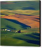 Palouse - Washington - Farms - 1 Canvas Print by Nikolyn McDonald