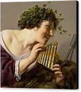 Pan Playing His Pipes Canvas Print by Paulus Moreelse