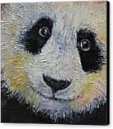 Panda Smile Canvas Print by Michael Creese