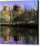 Panorama At Red Rocks Crossing In Sedona Az Canvas Print by Teri Virbickis