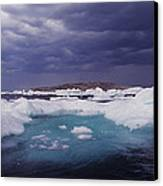 Panorama Ice Floes In A Stormy Sea Wager Bay Canada Canvas Print