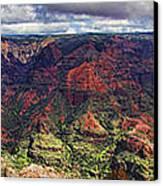 Panorama Of Waimea Canyon Hawaii Canvas Print by David Smith