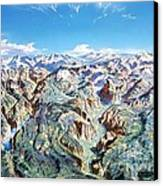 Panorama Of Yosemite Park Canvas Print by Pg Reproductions