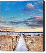 Panoramic Crooked Lake Canvas Print by Jenny Ellen Photography