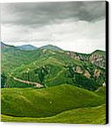 Panoramic Green Mountains Canvas Print by Boon Mee