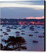 Panoramic Of The Marblehead Illumination Canvas Print by Jeff Folger