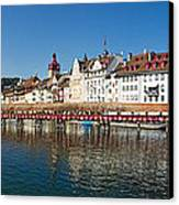Panoramic View Of Historic Lucerne Canvas Print