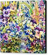 Pansy Path Canvas Print by Ann  Nicholson