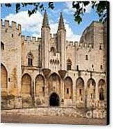 Papal Castle In Avignon Canvas Print by Inge Johnsson
