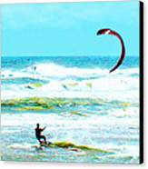 Para-surfer   Canvas Print by CHAZ Daugherty