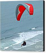 Paragliding At Torrey Pines Canvas Print by Anna Lisa Yoder
