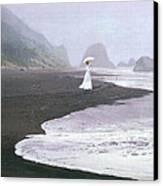 Parasol Beach Canvas Print