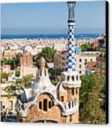 Parc Guell Barcelona Antoni Gaudi Canvas Print by Matthias Hauser