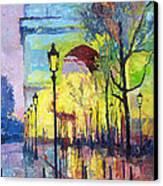 Paris Arc De Triomphie  Canvas Print by Yuriy  Shevchuk
