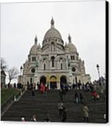Paris France - Basilica Of The Sacred Heart - Sacre Coeur - 12125 Canvas Print by DC Photographer