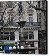 Paris France - Street Scenes - 011334 Canvas Print by DC Photographer