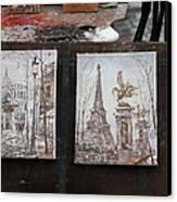Paris France - Street Scenes - 121225 Canvas Print by DC Photographer