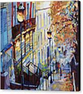 Paris Monmartr Steps Canvas Print by Yuriy  Shevchuk