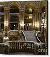 Paris Opera House Interior Romantic Staircase Balconies And Architecture  Canvas Print by Kathy Fornal