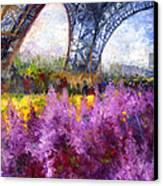 Paris Tour Eiffel 01 Canvas Print by Yuriy  Shevchuk