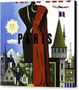 Paris Twa Canvas Print by Mark Rogan