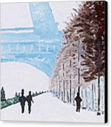 Paris Wintertime Canvas Print by Kevin Croitz