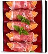 Parma Ham And Melon Canvas Print