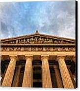 Parthenon From Below Canvas Print
