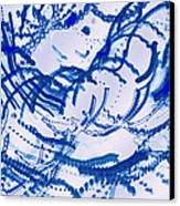 Particles Of Blue Canvas Print