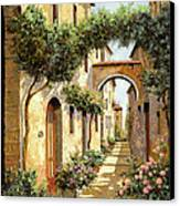 Passando Sotto L'arco Canvas Print by Guido Borelli