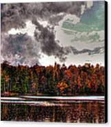 Passing Storm Over Cary Lake Canvas Print by David Patterson