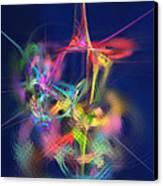 Passion Nectar - Circling The Flower Of Paradise Canvas Print by Menega Sabidussi
