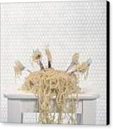 Pasta For Five Canvas Print by Joana Kruse